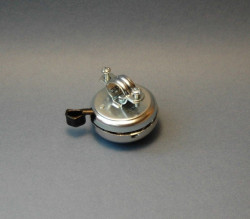 Vintage bell in chromed steel