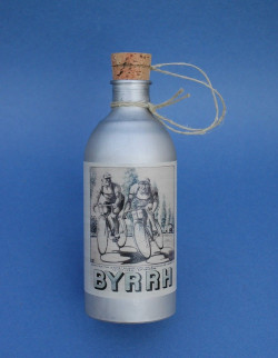 Byrrh water bottle vintage in aluminum