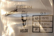 Brake cable Velox for vintage bicycle 1.80m