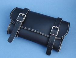 Sacoche de selle en cuir synthétique couleur noire