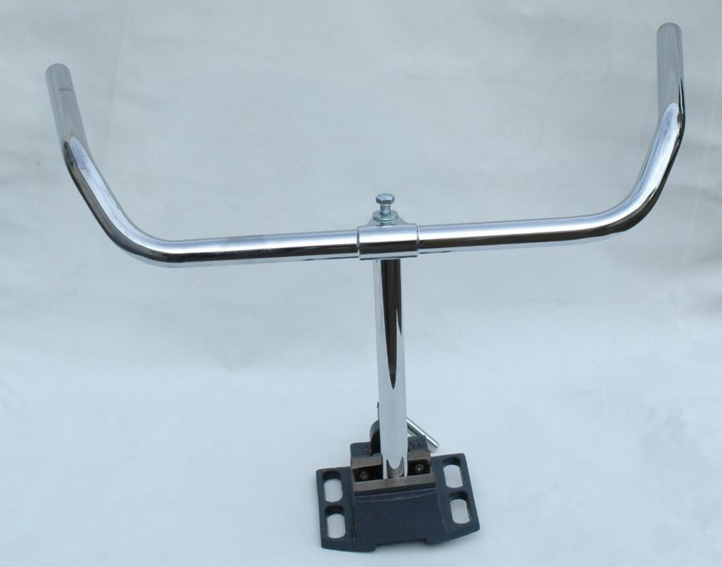 Handlebar with stem chrome steel 550 mm