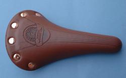 Selle marron en cuir synthétique pour vélo vintage ou fixie