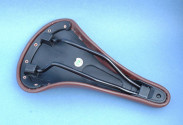 Synthetic leather brown saddle for vintage bike and fixie