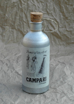 Campari water bottle vintage in aluminum