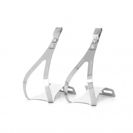 Christophe Toe Clips L/XL in chromed steel