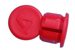Bouchon en plastique rouge pour cintre