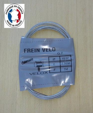 Cable de frein Velox 2,50 m type Weinmann 15/10