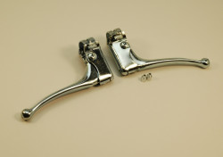 brake levers in chromed steel for vintage bike