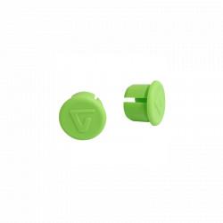 Bouchon embouts en plastique vert pour guidon