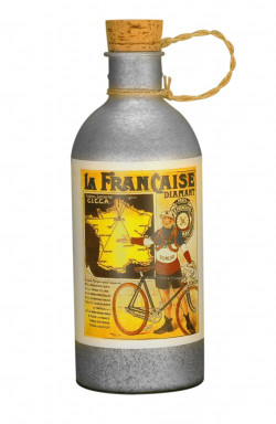La française Diamant water bottle vintage in aluminum