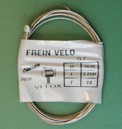 Stainless steel brake cable Velox 2.25m for MTB Weinmann CLB