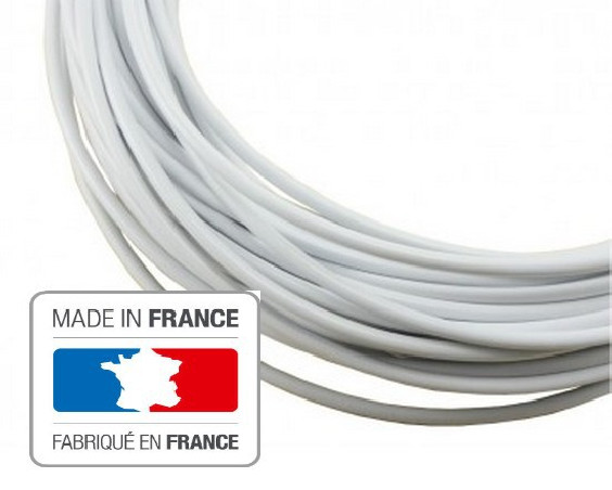 3 meters brake cable housing lined white