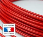 3 mètres de gaine rouge au Teflon - auto-lubrifiée