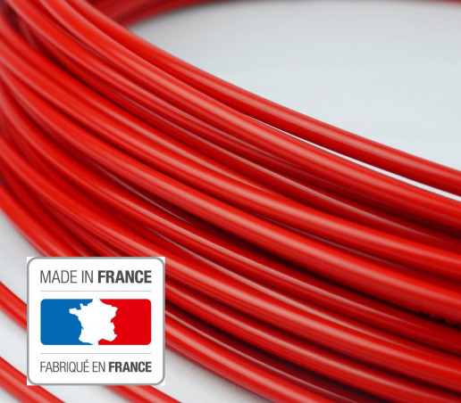 3 meters lined brake cable housing red