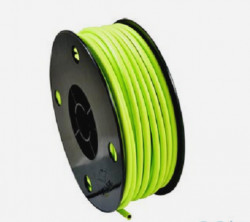 2 meters lined brake cable housing gren yellow