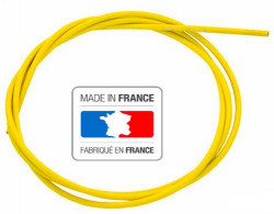2 meters brake cable housing lined jaune