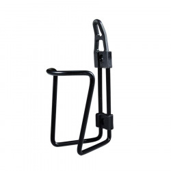 Bottle cage water in aluminium color : black