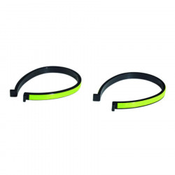 2  troussers bands clip in plastic fluorescent yellow reflessing