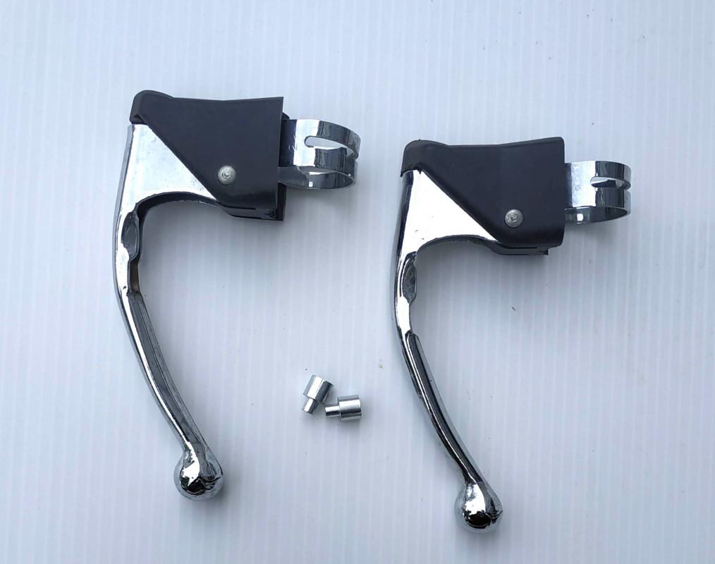 Brake levers in chromed steel for children race bike vintage bike