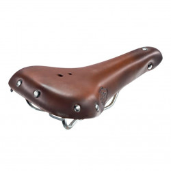 Leather sadlle for old bicycle Monte Grappa brown