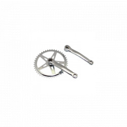 Crankset in chromed steel 46 teeth 170 mm