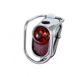 Rear light in chromed steel (battery and leds)