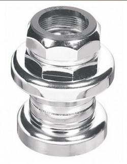 "Threaded headset in  chromed steel 1 inch - 1"" (25,4mm)  BSA BSC"