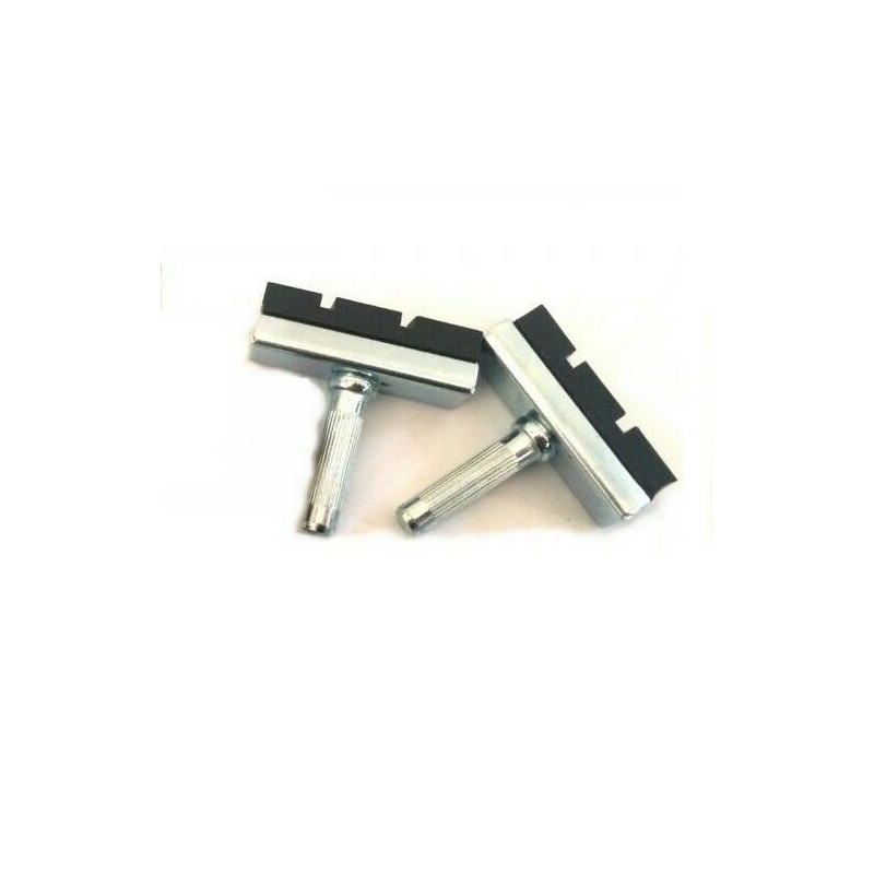 2 pads for vintage bike 40mm axle : 6 mm