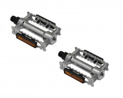 """Pedals in aluminum with reflector  thread  9/16"""" x20 tpi -BSC - BSA"""