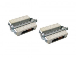 """Pair of pedals white (right and left) thread: 9/16 """"- BSC"""