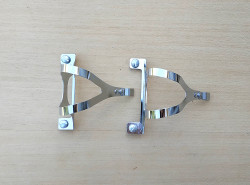 Toe clips for reflectorized pedals