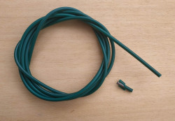 2 meters brake cable housing lined green New old stock