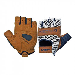 Vintage leather cycling gloves size: M