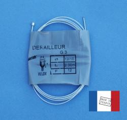 Cable de dérailleur universel Velox 2,00 m pour vélo vintage
