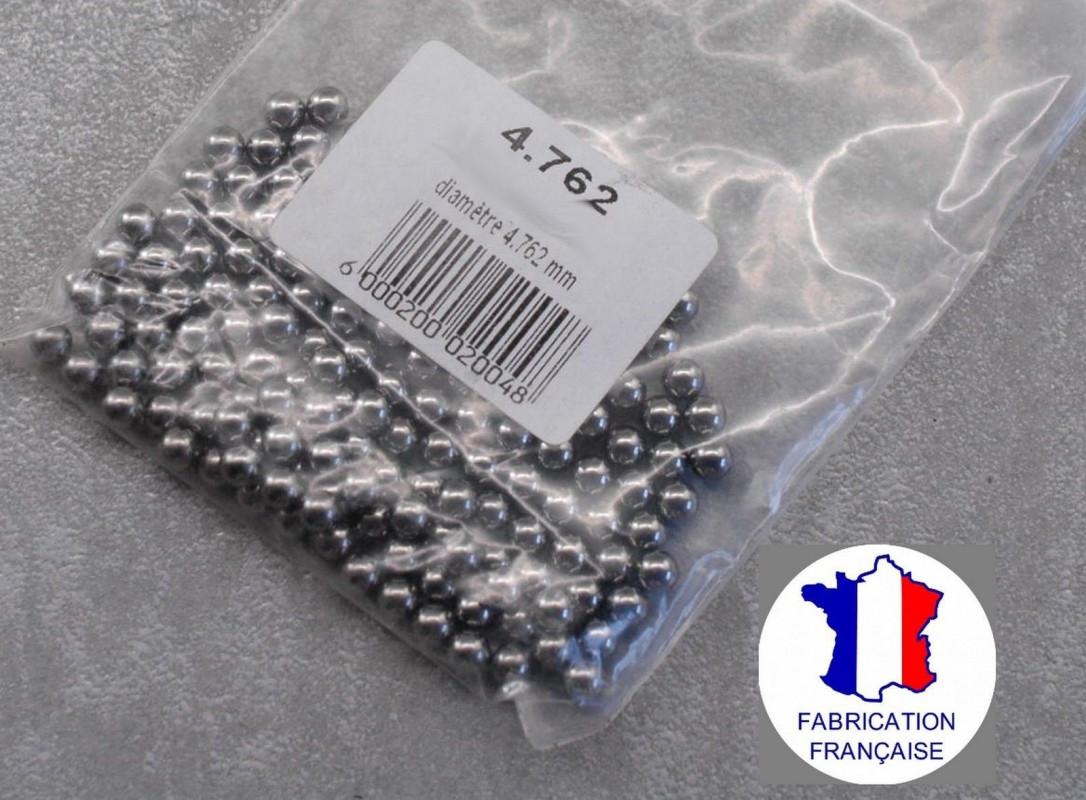 35 billes 4,76 mm 3/16 en acier chromé