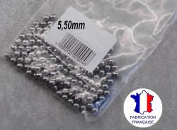 35 billes diamètre 5,50 mm en acier chromé