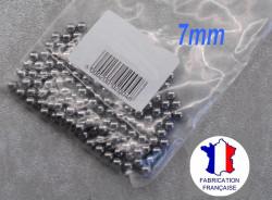 35 billes diamètre 7 mm en acier chromé